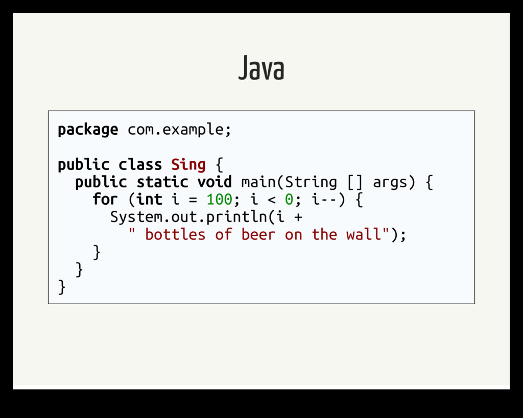 Java package com.example; public class Sing { p...
