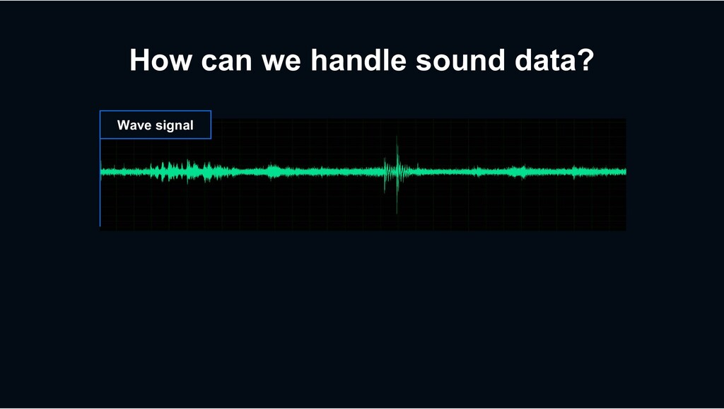 How can we handle sound data? Wave signal