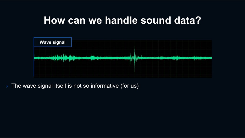How can we handle sound data? Wave signal › The...