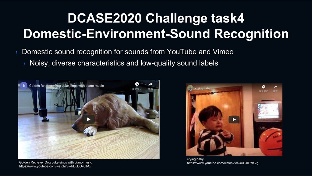 › Domestic sound recognition for sounds from Yo...