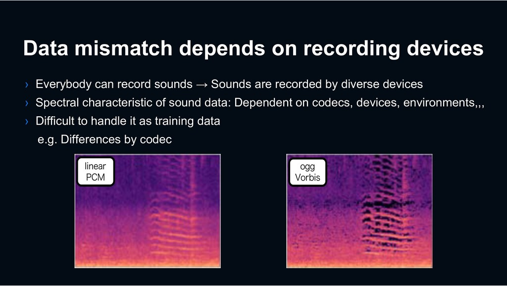 Data mismatch depends on recording devices › Ev...