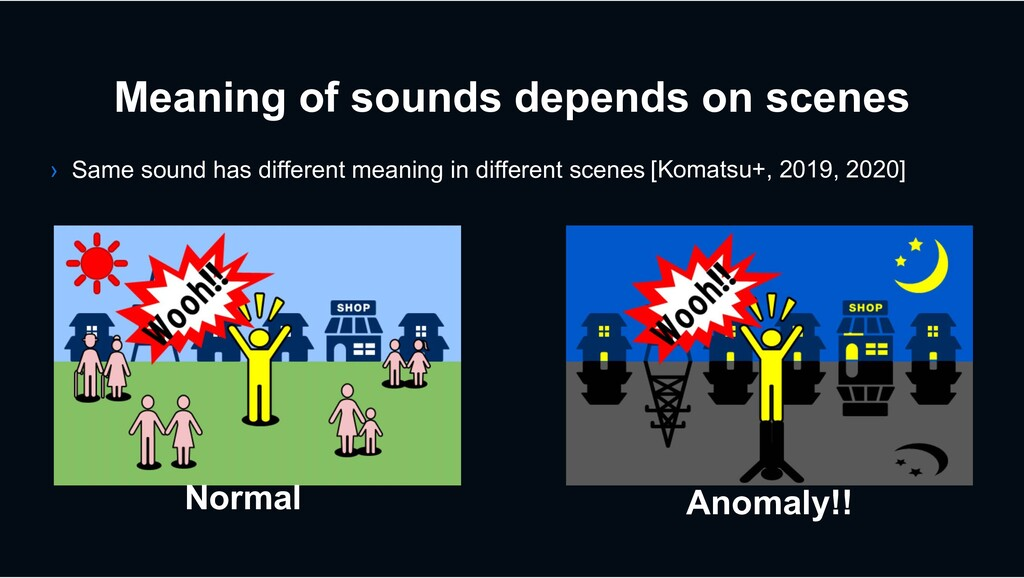 Meaning of sounds depends on scenes Normal Anom...
