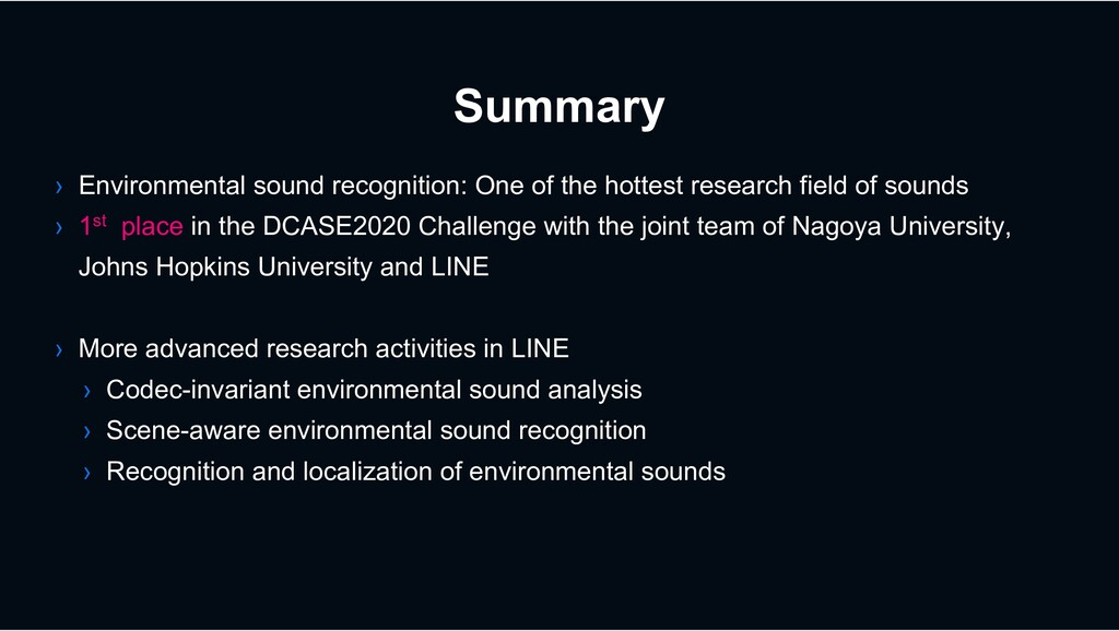 Summary › Environmental sound recognition: One ...