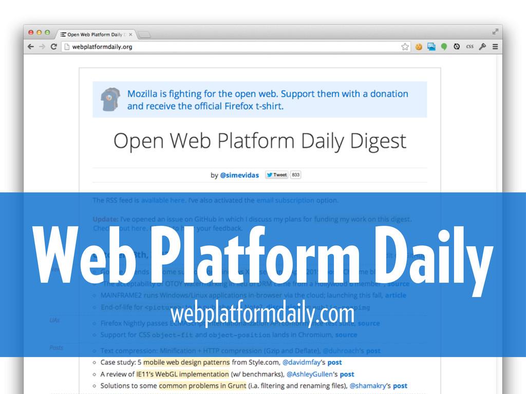 Web Platform Daily webplatformdaily.com