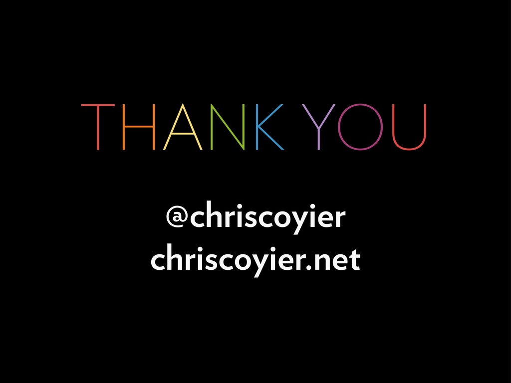 THANK YOU @chriscoyier chriscoyier.net