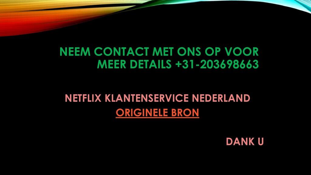NEEM CONTACT MET ONS OP VOOR MEER DETAILS +31-2...