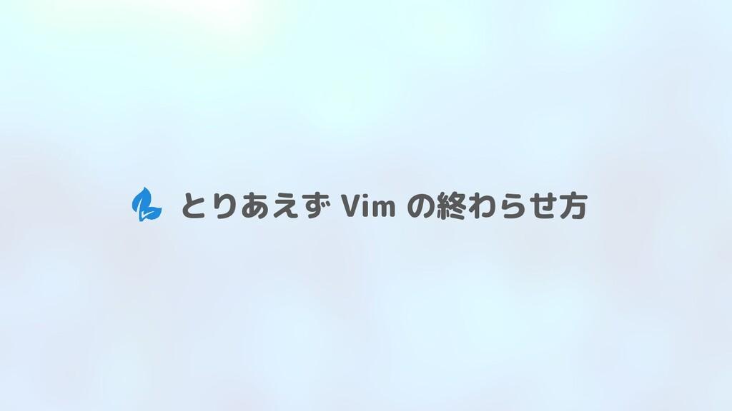 とりあえず Vim の終わらせ方
