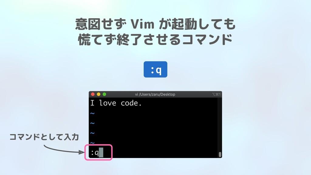 意図せず Vim が起動しても 慌てず終了させるコマンド :q コマンドとして入力