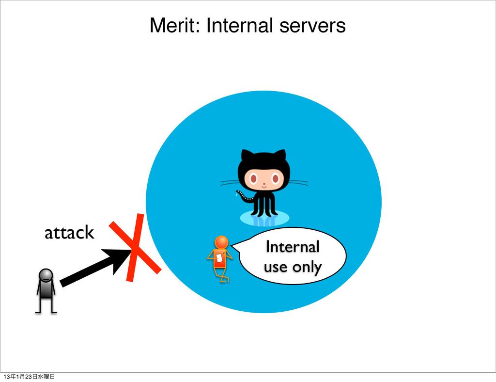 Merit: Internal servers Internal use only attac...