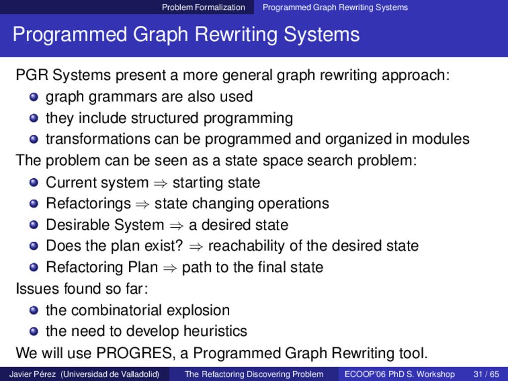 Problem Formalization Programmed Graph Rewritin...