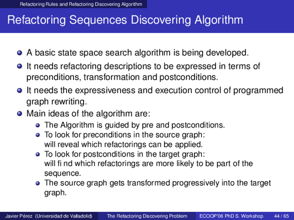 Refactoring Rules and Refactoring Discovering A...