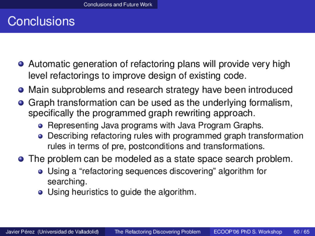 Conclusions and Future Work Conclusions Automat...