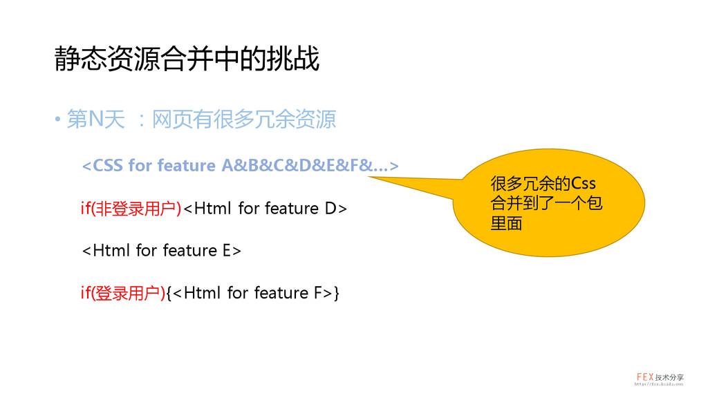 • 第N天 :网页有很多冗余资源 <CSS for feature A&B&C&D&E&F&…...