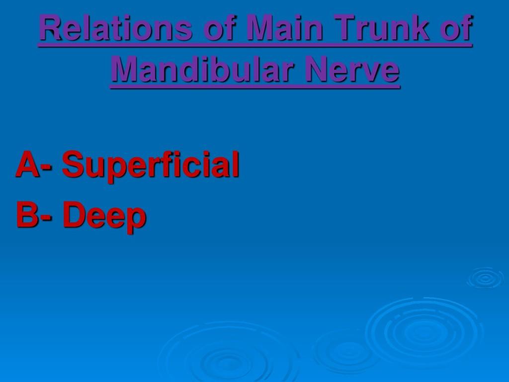 Relations of Main Trunk of Mandibular Nerve A- ...