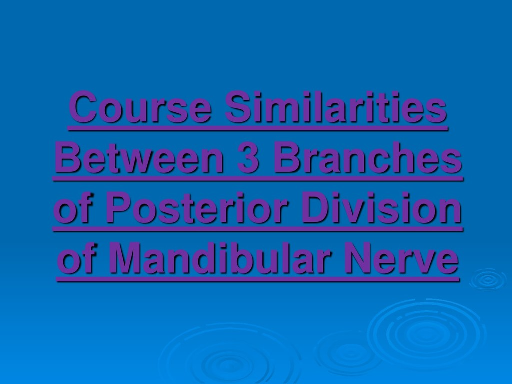 Course Similarities Between 3 Branches of Poste...
