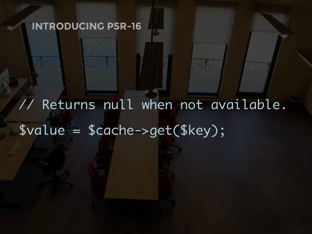 // Returns null when not available. $value = $c...