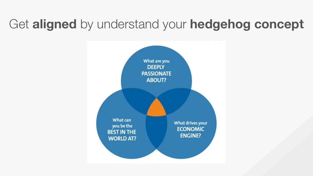 Get aligned by understand your hedgehog concept