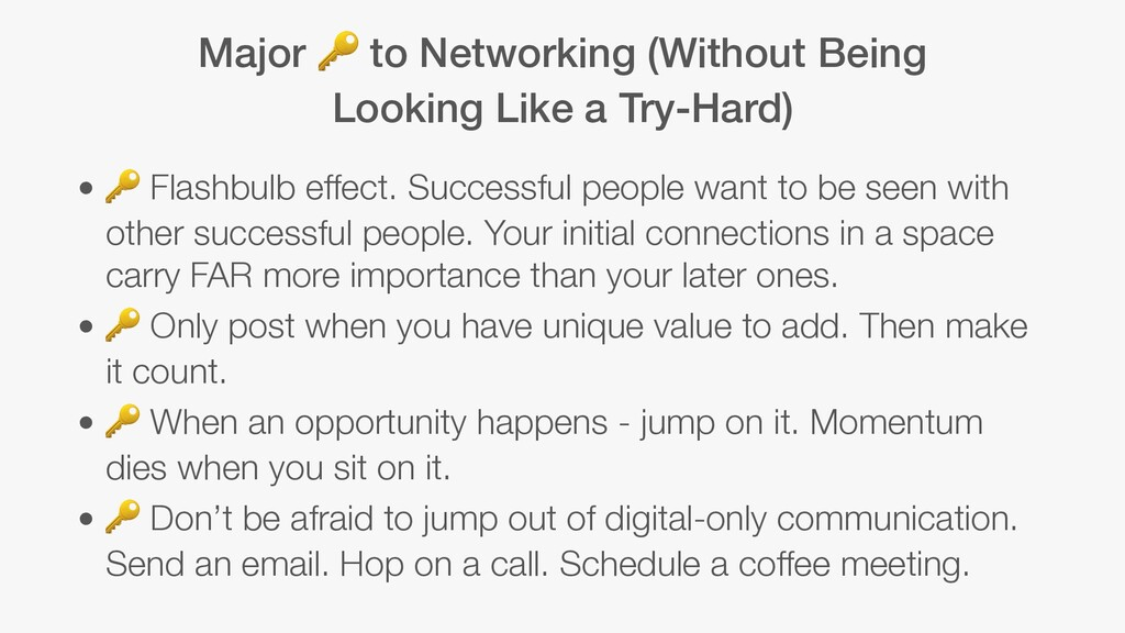 Major  to Networking (Without Being Looking Lik...