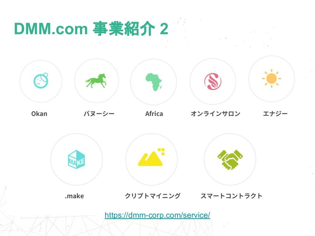 DMM.com 事業紹介 2 https://dmm-corp.com/service/