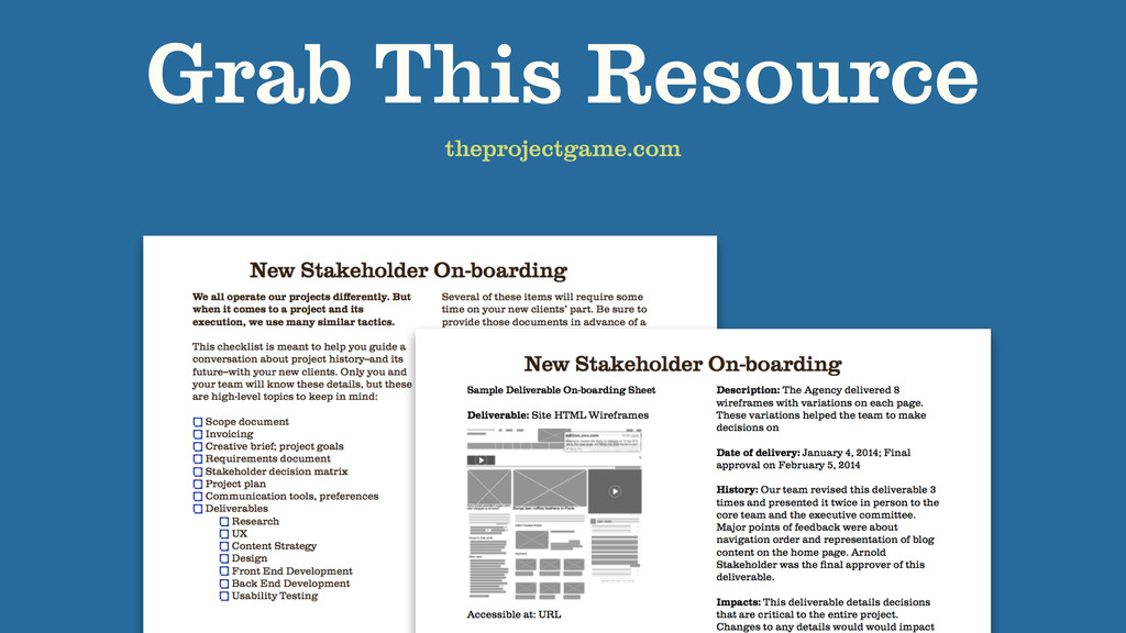 Grab This Resource theprojectgame.com