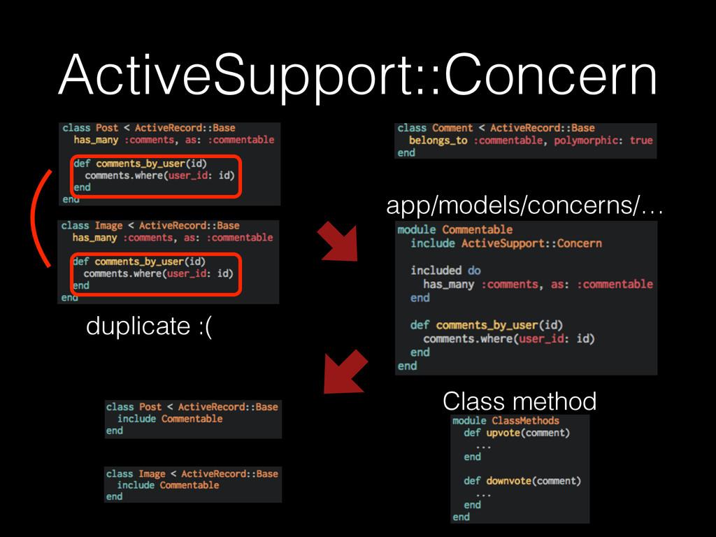 ActiveSupport::Concern app/models/concerns/… Cl...