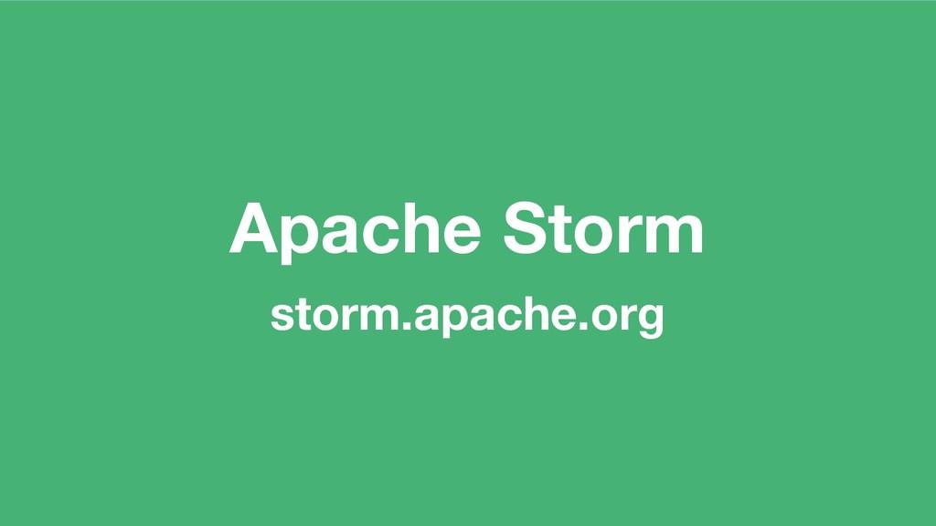 Apache Storm storm.apache.org