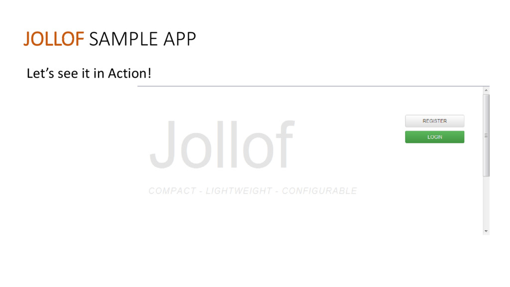 JOLLOF SAMPLE APP Let's see it i A tio !