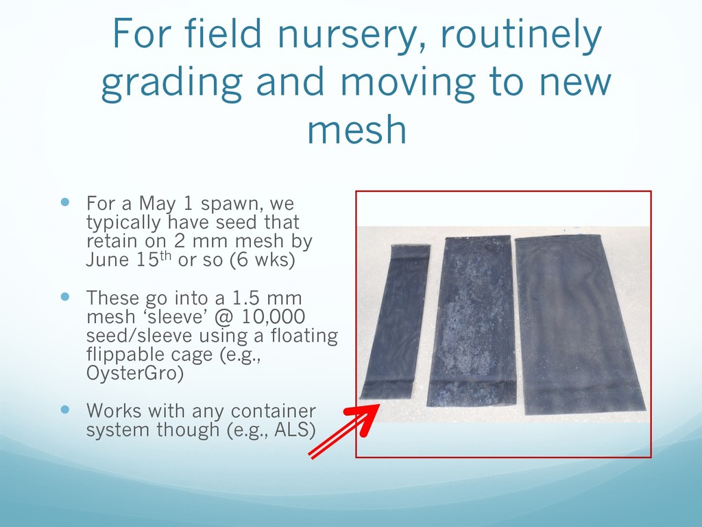 For field nursery, routinely grading and moving...
