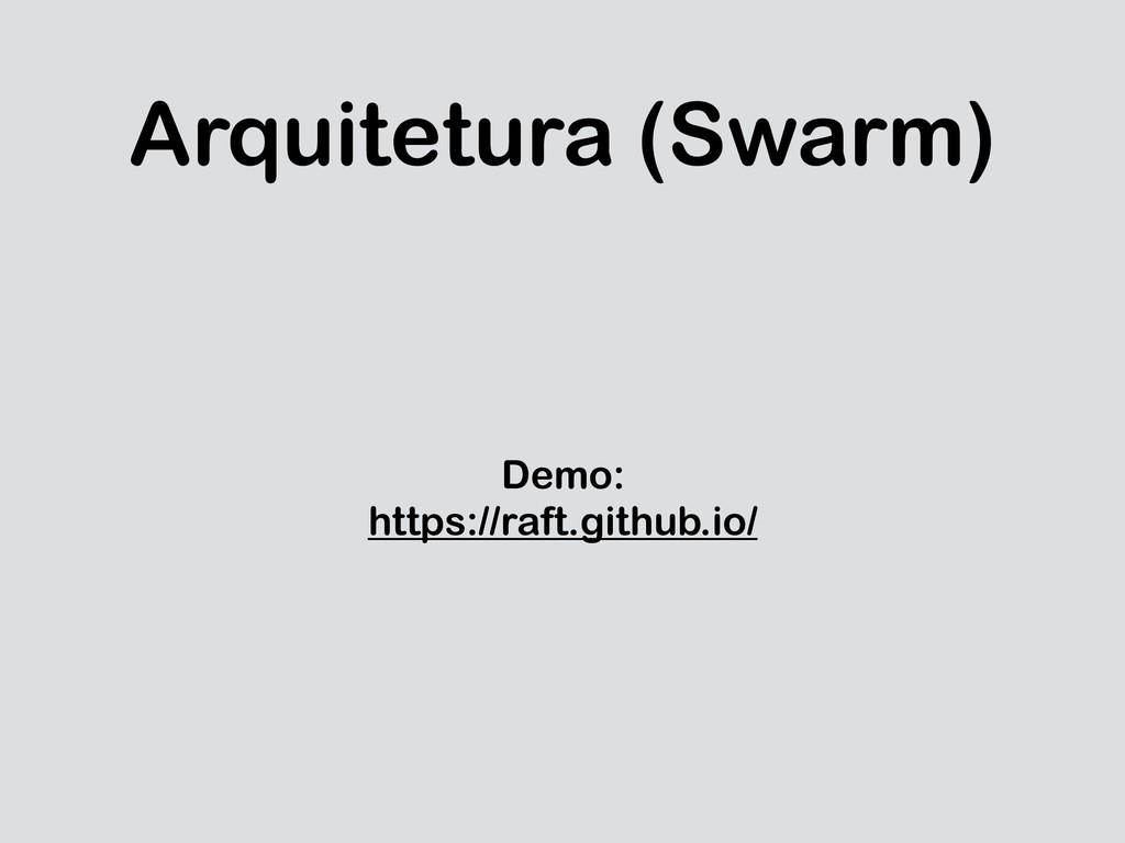 Arquitetura (Swarm) Demo: https://raft.github.i...