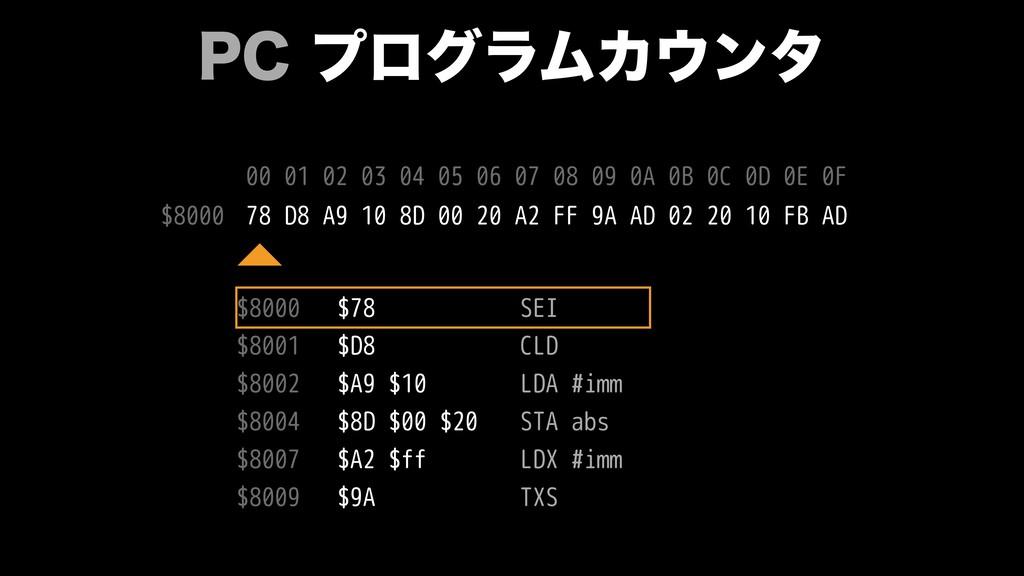 1$ϓϩάϥϜΧϯλ $78 $D8 $A9 $10 $8D $00 $20 $A2 $f...
