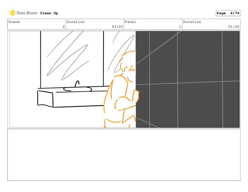 Scene 2 Duration 03:01 Panel 1 Duration 01:00 C...