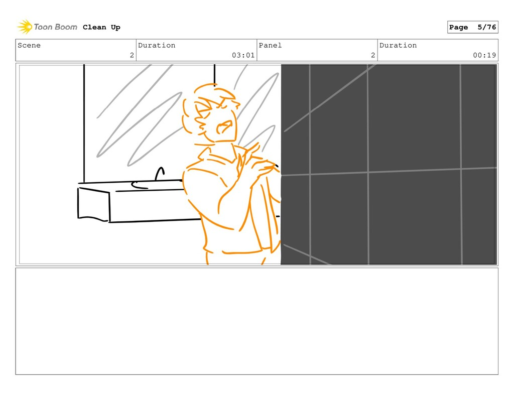 Scene 2 Duration 03:01 Panel 2 Duration 00:19 C...