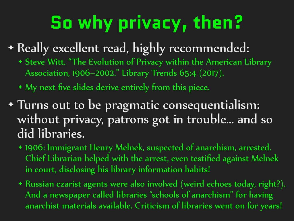 So why privacy, then? ✦ Really excellent read, ...