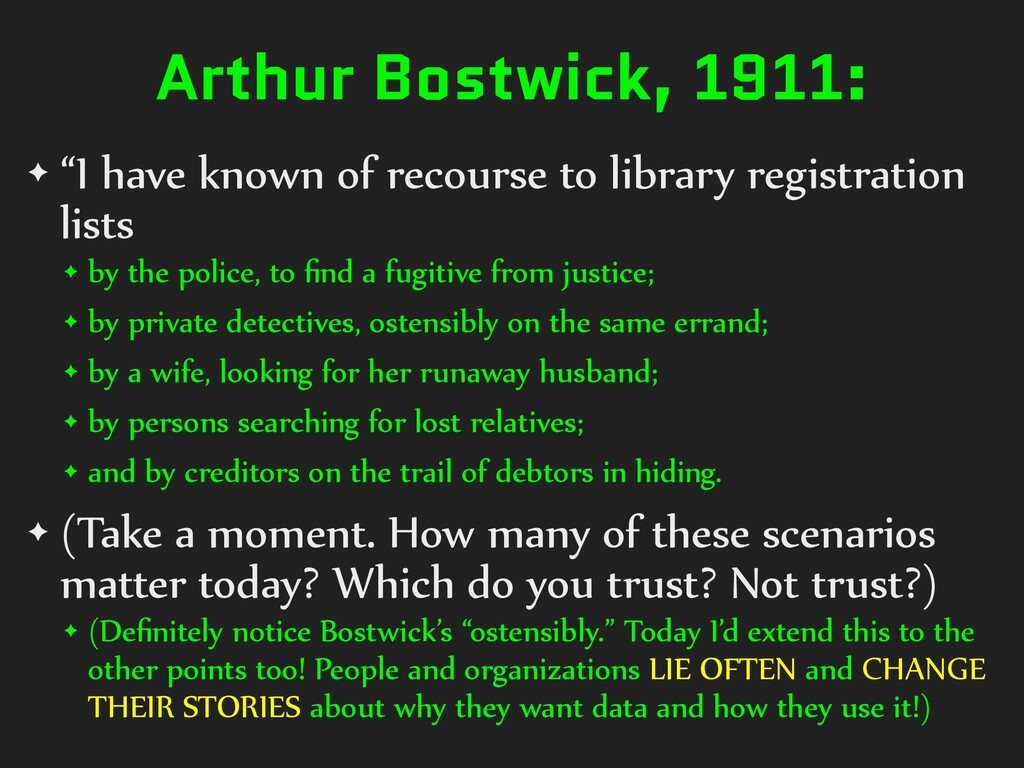 "Arthur Bostwick, 1911: ✦ ""I have known of recou..."
