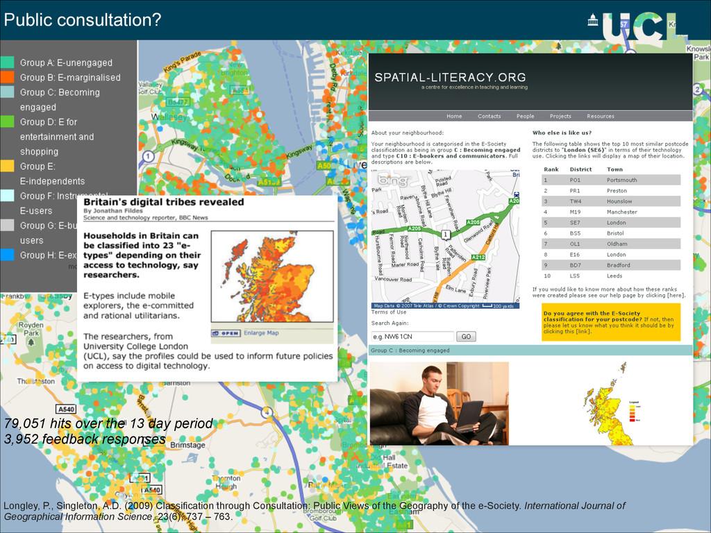 Public consultation? Longley, P., Singleton, A....