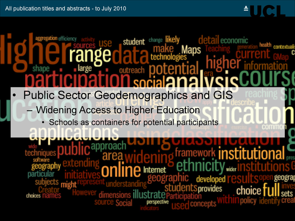All publication titles and abstracts - to July ...