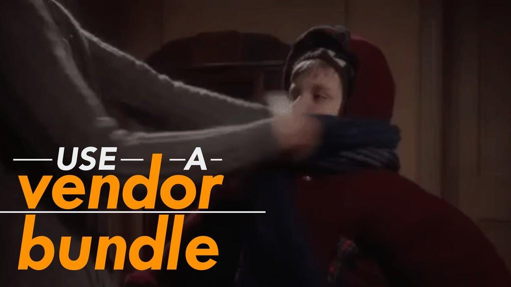 vendor bundle USE A