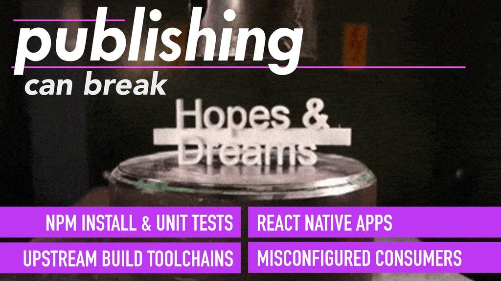 can break publishing NPM INSTALL & UNIT TESTS U...