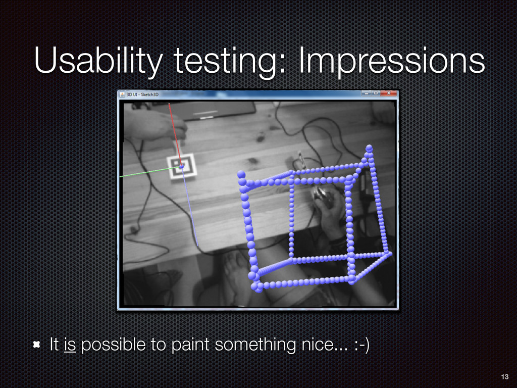 Usability testing: Impressions It is possible t...