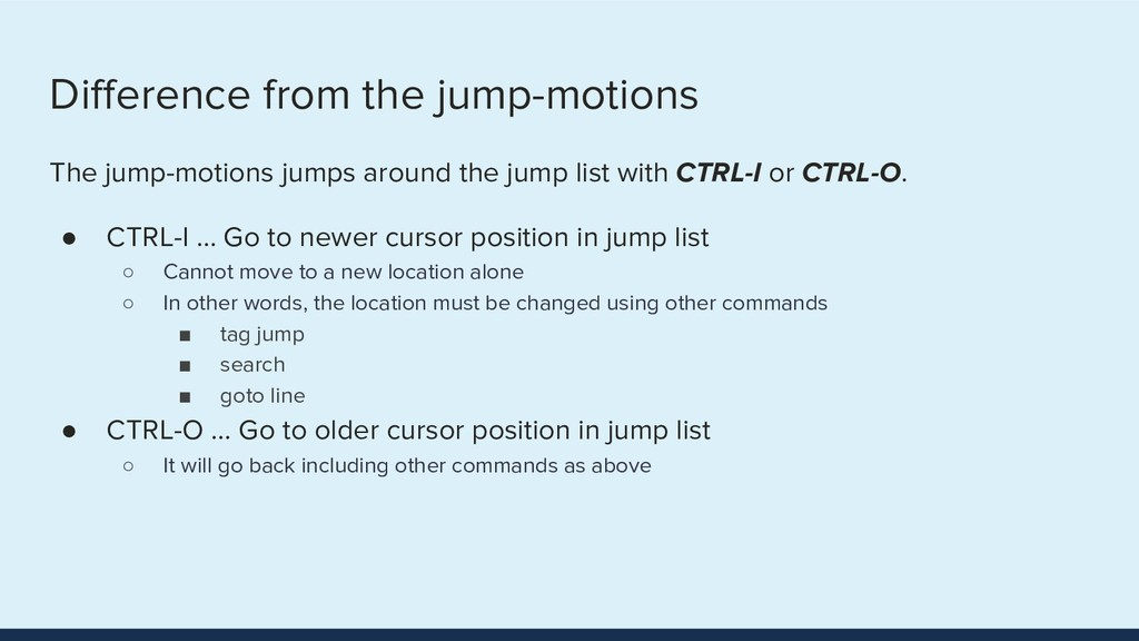 Difference from the jump-motions The jump-motion...