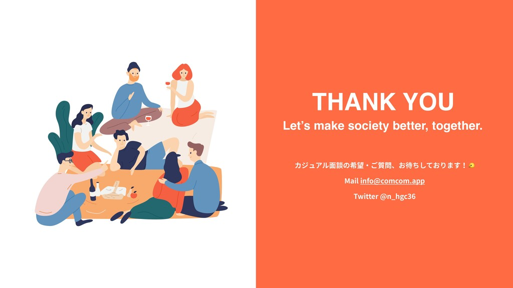 THANK YOU Let's make society better, together. ...