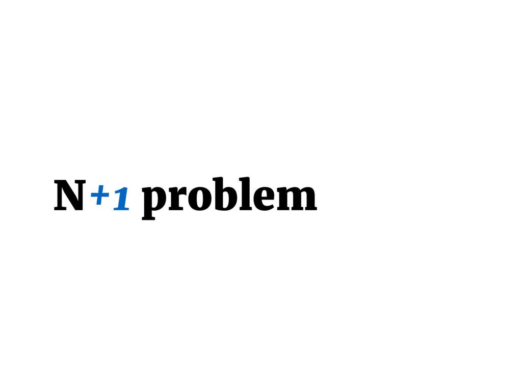 N+1 problem