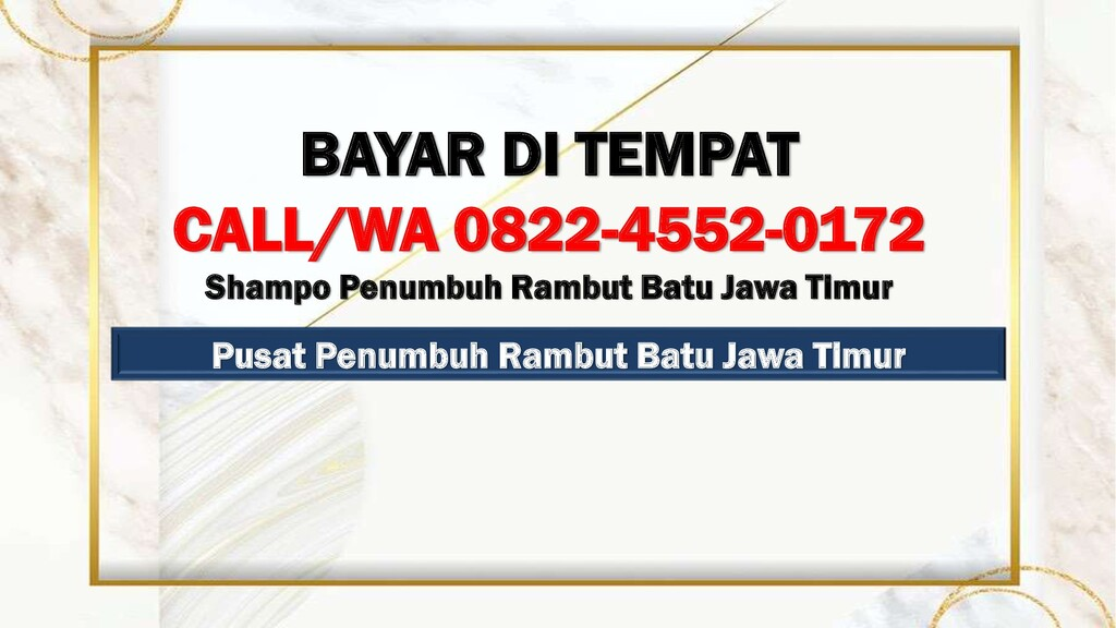 Pusat Penumbuh Rambut Batu Jawa Timur BAYAR DI ...