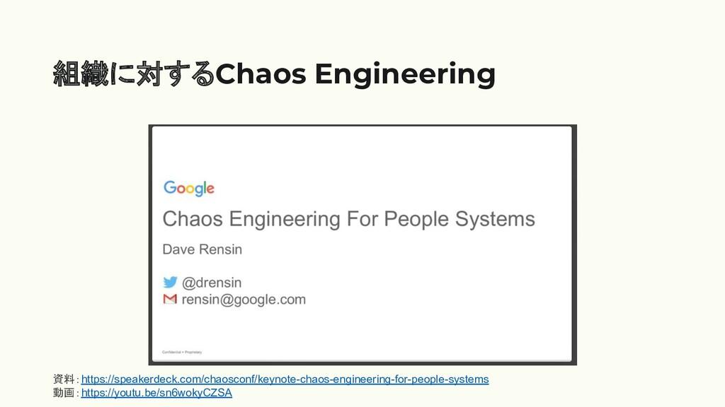 組織に対するChaos Engineering 資料:https://speakerdeck....