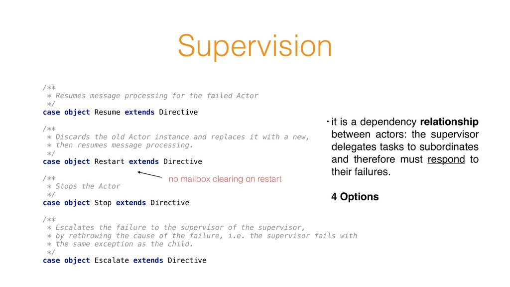 Supervision /** * Resumes message processing f...