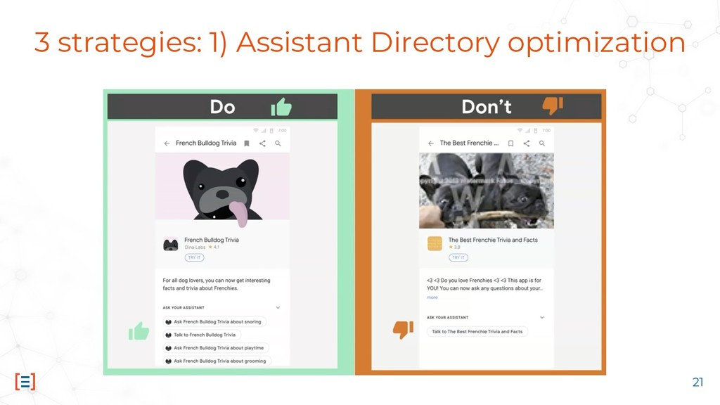 3 strategies: 1) Assistant Directory optimizati...