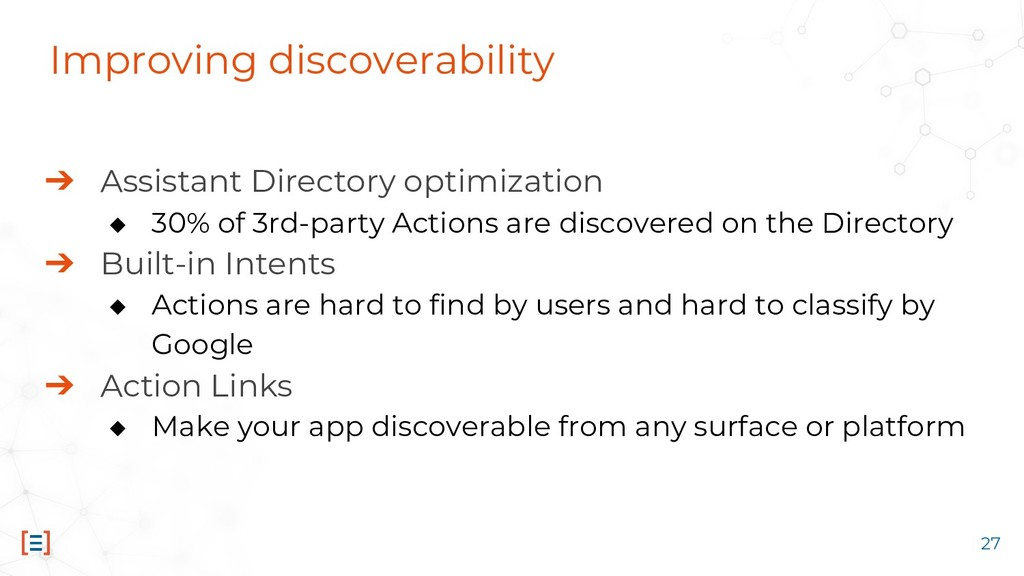 Improving discoverability ➔ Assistant Directory...