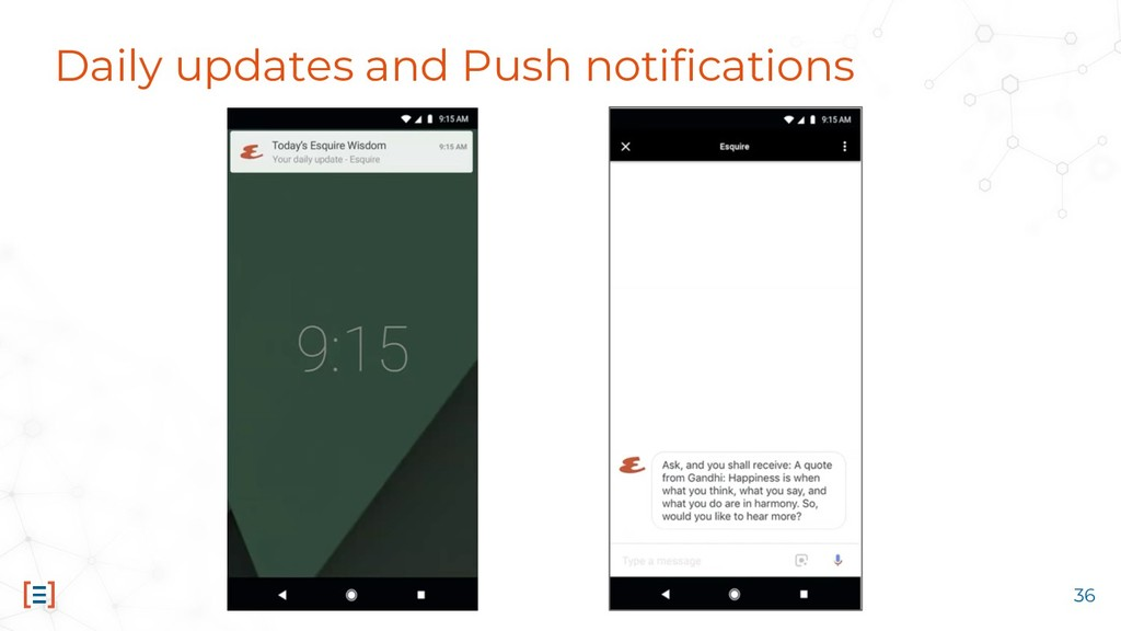 Daily updates and Push notifications 36