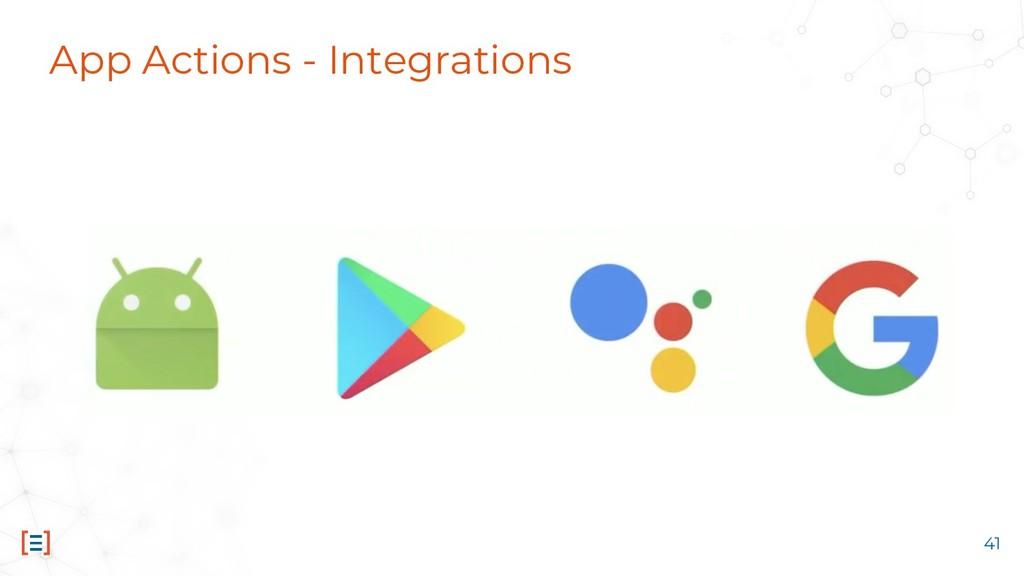 App Actions - Integrations 41