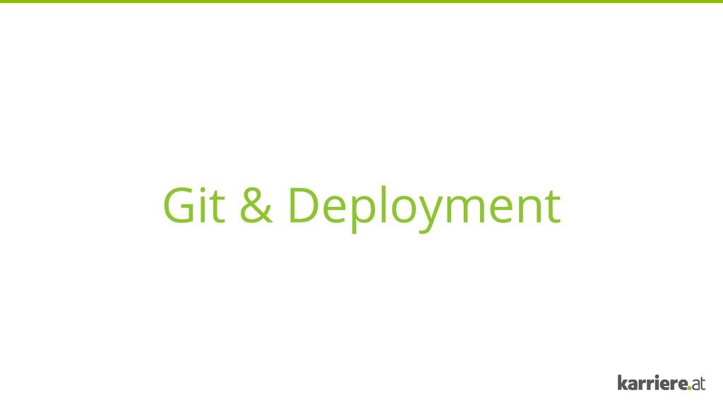 Git & Deployment